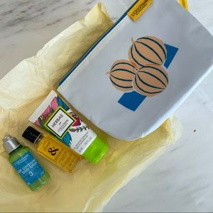 L'OCCITANE 3-piece beauty pack bag with products
